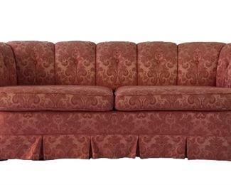 Pink Hollywood Regency Sofa