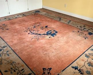 #1chinese rug blue coral cream 109x140 $300.00