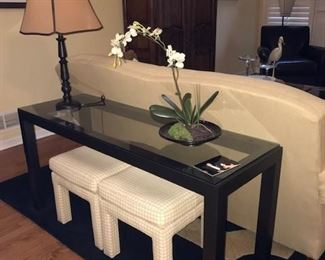 Console Table w/ Benches
