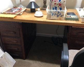 Oak Carved Desk
