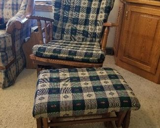 Glider Rocker & Foot Stool. Located Off Property. You will need to schedule a time to see this.