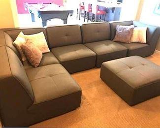 001 Kasala Modular Sofa with Ottoman