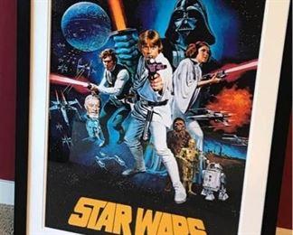 005 Star Wars Movie Poster Framed