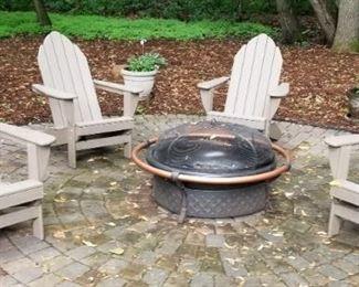 Firepit and Adirondak Chairs
