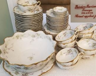 Haviland Gold Gilt and Floral China Service