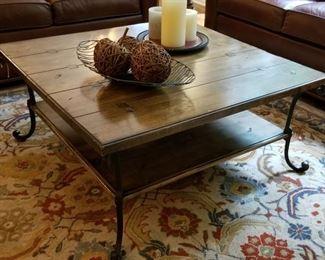 Iron Leg Coffee Table