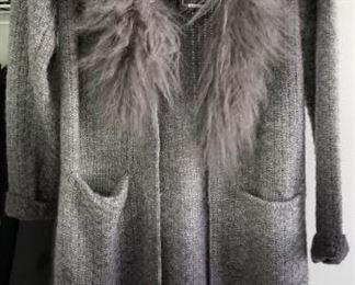 Rino Pelle Sweater Coat NWT