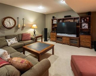 Sectional and Entertainment Center