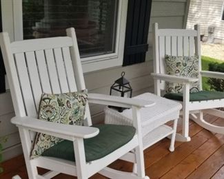 White Outdoor Rockers a