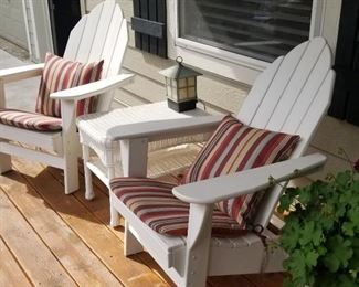 White Adirondaks Chairs