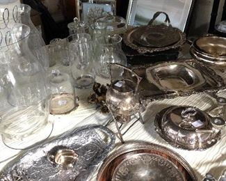 Lots of fun silver and glass!
