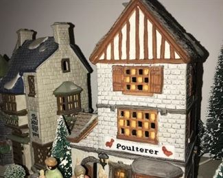 DEPARTMENT 56 VILLAGE HERITAGE HOUSES AND  ACCESSORIES