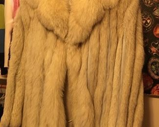 Levy Wolf Fur Coat
