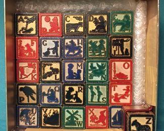 Antique Children's Toys & Games - Wood Blocks