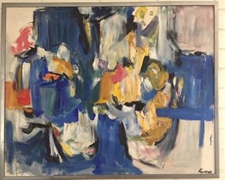 "Art - Abstract – Eve A. Koenig c. 1970: 43"" x 35"""