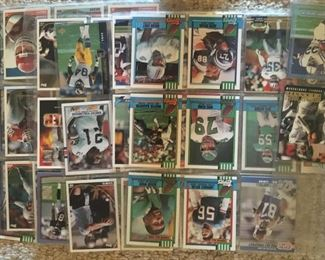 There are some sports cards in this sale as well -- here is a football sample.