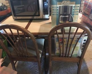 . . . a cute dining table and chairs.