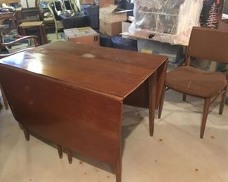 . . . a nice vintage drop-leaf table with chairs.