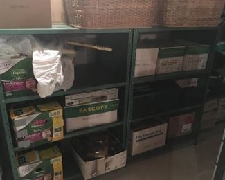 . . . we are featuring the great metal shelving unit -- heavy grade.  Buyer disassembles!