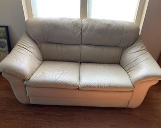 . . . a nice leather love seat
