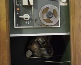 Reel to reel and storage.