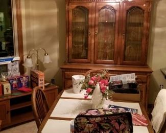 Dining Room Buffet and China cabinet, weather center...