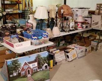 More lamps, books, die cast model cars, housewares...