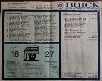 '92 Buick Riviera 64Kmiles