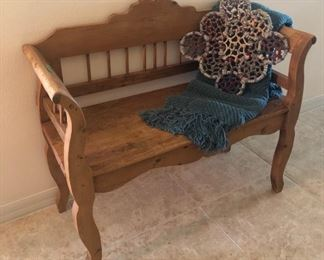 """Antique Bench from """"The Great British Pine Mine"""" -  $295 - (40W 18D  35H)"""
