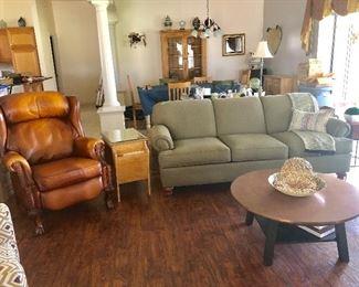 Sage Gray Ethan Allen 3-Seat Sofa - $650 - (86L  39W  34H)