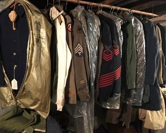 dozens of military uniforms from Spanish American War on - including foreign