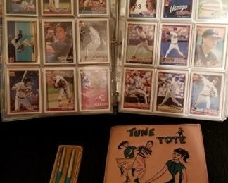 Book of baseball cards