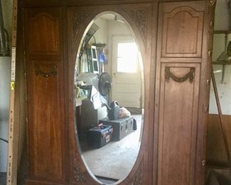 French Provincial Armoire / Mirror