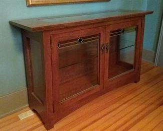 Craftsman Glass Curio Cabinet