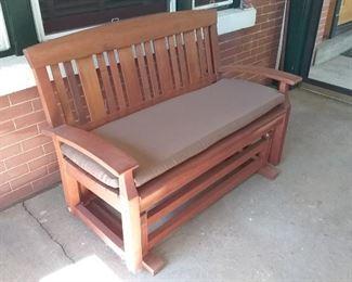 Solid Wood Porch Glider