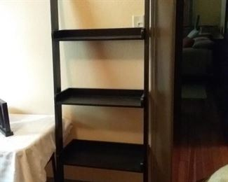 Crate and Barrel Leaning Bookcase