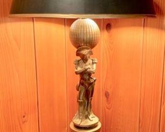 "Table Lamp, Napoleon Image; 24"" Tall"