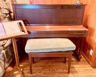 Yamaha Upright Mahogany Piano and Bench