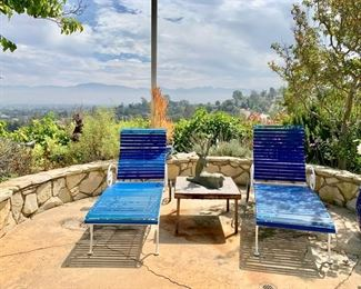 Pair of Outdoor Chaises