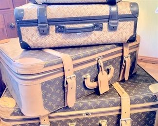 LV Suitcases, Goyard, Velextra, Globe Trotter, W. Insoll & Son, Diamond D, Rattan Suitcases...all for the well healed traveler...;