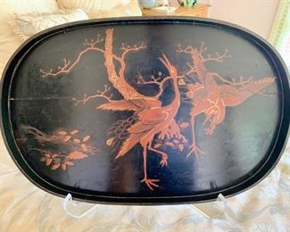 Antique, Japanese Lacquer Serving Tray