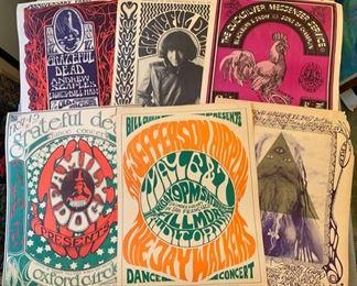 Iconic Vintage Rock Concert Posters  1966-1972, 14x20, all original first printings (Bindweed Press).