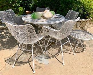 Sculptura Chairs, Mid Century Woodard Outdoor Furniture