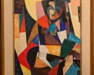 Arthur Lutenbacher (1916-1993), Mandolin Player, Oil, 12x18