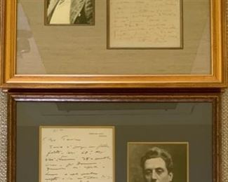 Puccini letters with photos, part of a collection