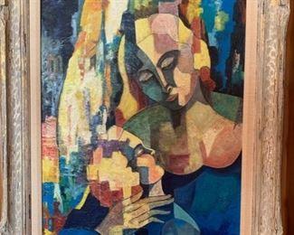 Arthur Lutenbacher (1916-1993), Mother & Child, oil, 20x25.
