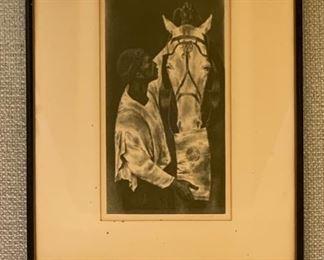 """Joseph Hirsch (1901-1981), """"Man & Beast"""", lithograph, 8x14"""