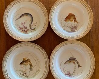 Flora Danica by Royal Copenhagen, Fish Plates, 8 different designs, sold individually, more images available email: hwcinvites@gmail.com