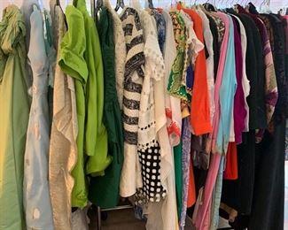 Designer Labels, Vintage to Recent, Gucci to Gernreich, Egyptian Designer Embroidered Caftans,  10 Oscar de la Rentas....Sizes Medium to Large