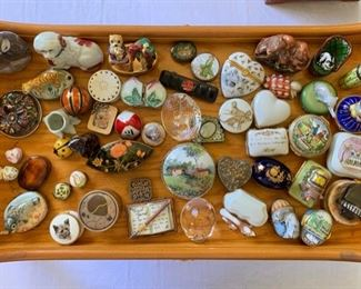 Hand Painted and Figural Limoges Boxes, Cartier Box, Miniatures